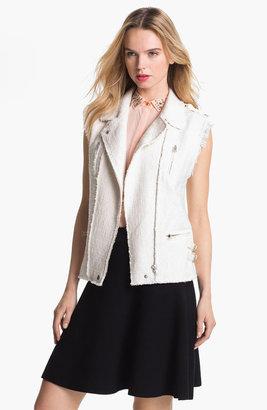 Rebecca Taylor Tweed & Leather Vest