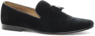 Asos Velvet Tassel Loafer With Leather Sole