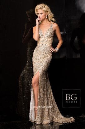 BG Haute - E01017 Dress In Champagne $480 thestylecure.com