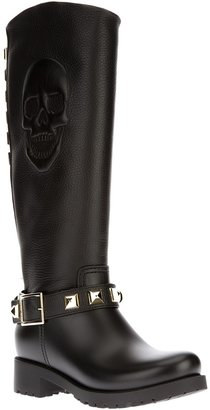 Philipp Plein knee length studded boot