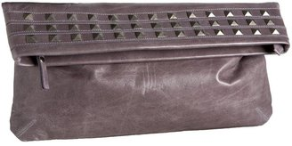 Pietro Alessandro Studded Fold-Over Clutch