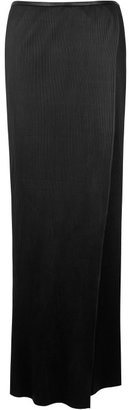 J.W.Anderson Black Leather Crystal Wrap Skirt