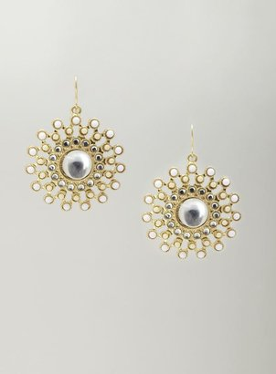 Stein & Blye Stone Sunburst Earrings