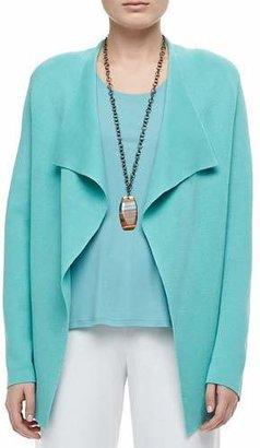 Eileen Fisher Silk-Cotton Interlock Jacket, Petite $298 thestylecure.com