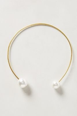 Anthropologie Double Pearl Necklace