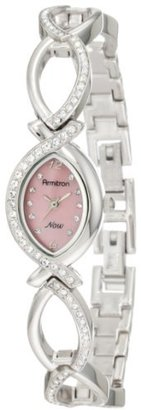 Armitron Women's 75/3477PMSV Swarovski Crystal Accented Silver-Tone Pink Dial Watch $44.99 thestylecure.com