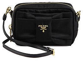 Prada Tessuto Nylon Bow Crossbody Bag