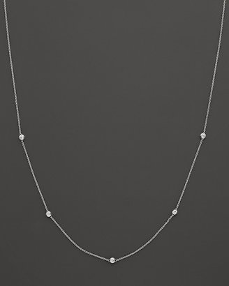 Bloomingdale's Diamond Station Necklace in 14 Kt. White Gold, 0.25 ct. t.w.