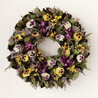 Williams-Sonoma Williams Sonoma Preserved Pansy Wreath