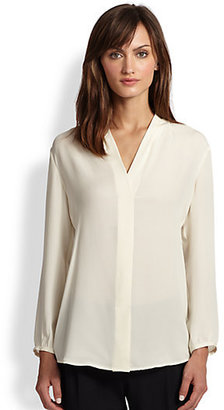 Theory Helona Double Georgette Top