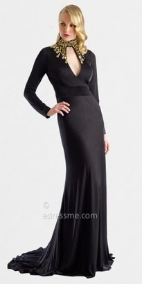 Embellished Cut-out Neckline Evening Gowns by Nika