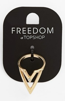 Topshop V-Cutout Ring