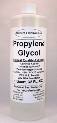 Propylene Glycol 1 Quart (32 oz.)-Highest Quality Available-From Element 6 $13.95 thestylecure.com