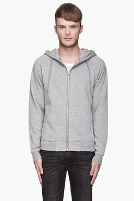 BLK DNM Heather grey zippered classic hoodie