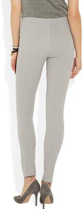 Donna Karan High-waisted stretch-cotton jersey leggings