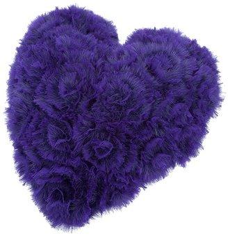 Liska Mink fur heart cushion