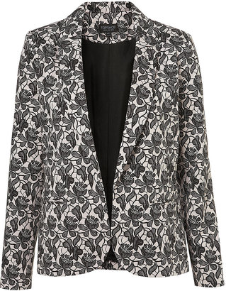 Topshop Co-Ord Lace Shadow Blazer