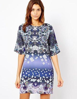 Asos Jewel Print Tee Dress