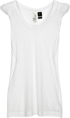 Juicy Couture Bird by Ruffled jersey tank