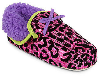 JCPenney MIXIT Leopard Print Moccasin Slippers