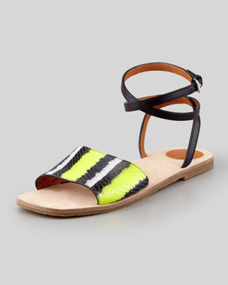 Marc by Marc Jacobs Anemone Ankle-Wrap Sandal, Yellow