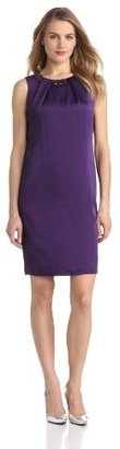 Anne Klein Women's Satin-Faced Beaded Dress