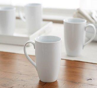 Pottery Barn Great White Latte Mug, Set of 4