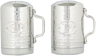 Old Dutch Stainless Steel Hammered Salt & Pepper Shaker Set
