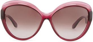 Salvatore Ferragamo Butterfly Sunglasses, Burgundy