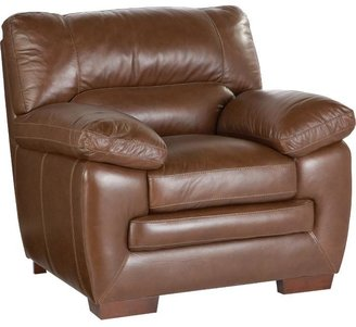 Argento Villa Brown Leather Chair