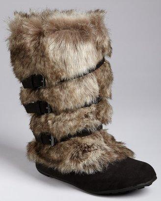 KORS Toddler Girls' Yara Faux Fur Boots - Sizes 8-12 Toddler