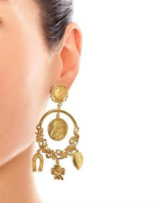 Dolce & Gabbana Charm hoop earrings