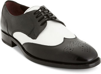 Johnston & Murphy Shoes, Carlock Two Tone Wing Tip Shoes