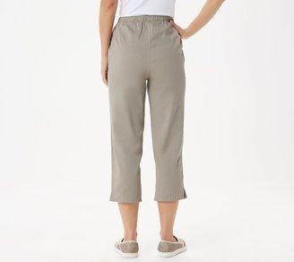 Denim & Co. Original Waist Stretch Crop Pants with Side Pockets