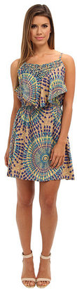 Angie Lattice Print Dress