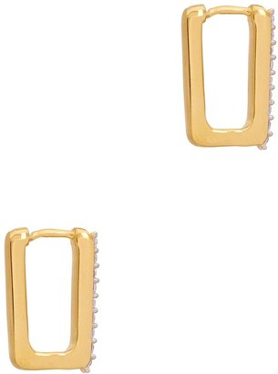 Missoma Pave Ovate Crystal-embellished Earrings