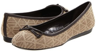 Lauren Ralph Lauren Minara (Tan Signature/Dark Brown Vachetta) - Footwear