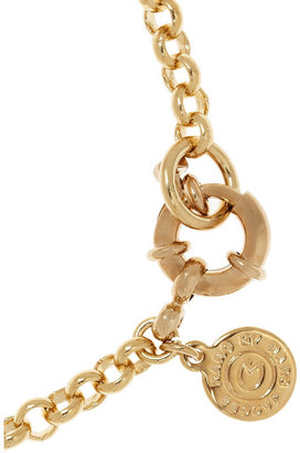 Marc by Marc Jacobs Protection enameled gold-tone charm bracelet