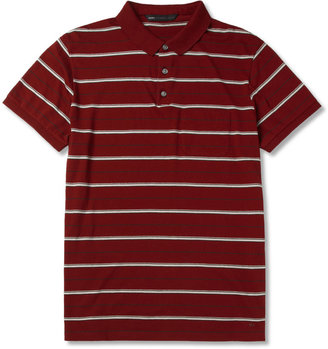 Marc by Marc Jacobs Seattle Striped Cotton-Jersey Polo Shirt