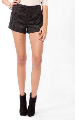 Forever 21 Jacquard Floral Shorts