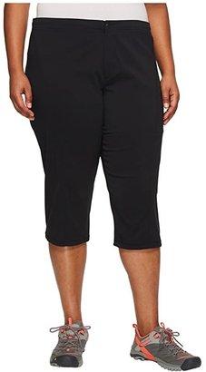 Columbia Plus Size Just Righttm II Capri (Black) Women's Capri