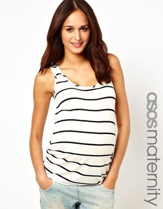 Asos Exclusive Tank In Breton Stripe