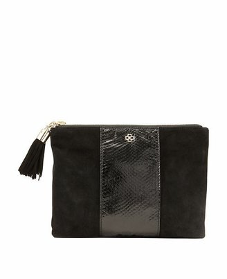 Ann Taylor Suede and Exotic Leather Pouch