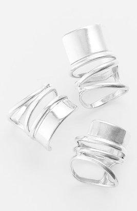 Leith Bold Spiral Band Ring Set