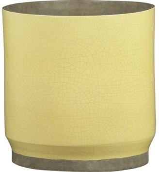 Crate & Barrel Himara Large Yellow Planter