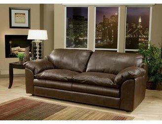 Omnia Leather Encino Loveseat Omnia Leather Body Fabric: Southwestern Blue, Seat Cushion Fill: Standard Cushion Fill