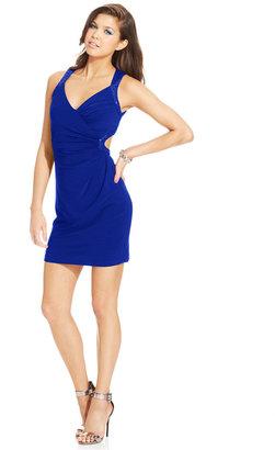 Adrianna Papell Hailey Logan by Juniors' Sequin-Trim Back Cutout Dress