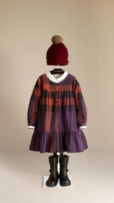 Burberry Check Pleat Detail Dress