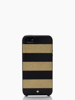 Kate Spade Glitter jubilee stripe resin iphone 5 case