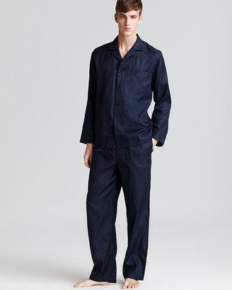 Boss Black Innovation Stripe Silk Pajamas